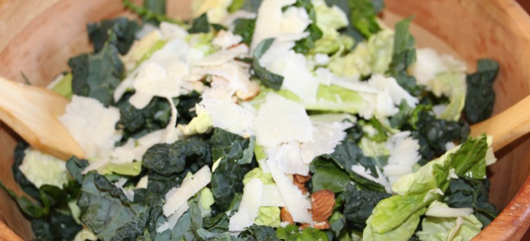 Green Goodness Salad (Kale Cabbage Salad)